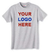 Basic 100% Cotton T-Shirt with Your Custom Logo Imprint