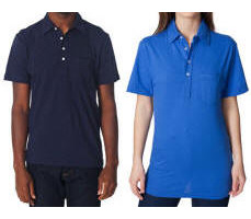 Unisex Pocket Pique Tri-Blend Polo with Your Custom Embroidered Logo