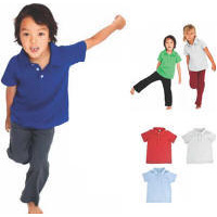 Kids 100% Cotton Polo Shirt with Your Custom Embroidered Logo
