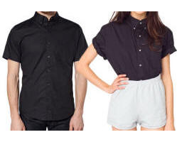 Unisex Cotton Poplin Button-Down with Your Custom Embroidered Logo