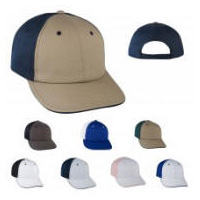 2-Tone School Colors Baseball Cap with Your Custom Embroidered Logo