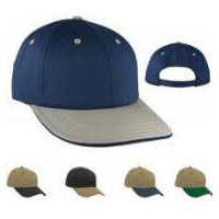 2-Tone Low Profile Pro Sports Cap with Your Custom Embroidered Logo