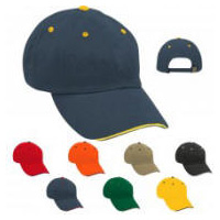 Sandwich Visor Buckle Back Cap with Your Custom Embroidered Logo