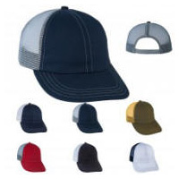 2-Tone Color Mesh Back Sports Cap with Your Custom Embroidered Logo