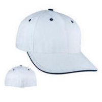 Sandwich Visor Stretch-Fit Back Cap with Your Custom Embroidered Logo