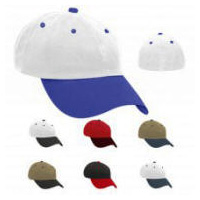 2-Tone Cotton Stretch-Fit Back Cap with Your Custom Embroidered Logo