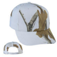 White Tree Camo Cap with Your Custom Embroidered Logo