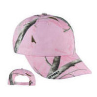 Pink Tree Camo Cap with Your Custom Embroidered Logo