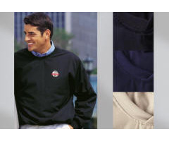 Micro-Poplin Pull-Over Golf Shirt with Your Custom Embroidered Logo