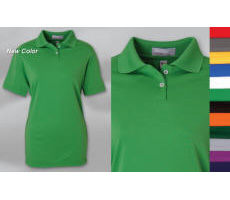 Women 100% Cotton Pique Polo with Your Custom Embroidered Logo