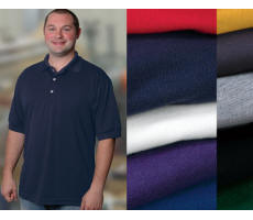 100% Cotton Pique Golf Shirt with Your Custom Embroidered Logo