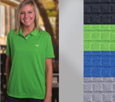 Ladies Polyester Polo Sport Shirt with Your Custom Embroidered Logo