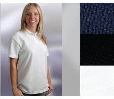 Ladies Cotton Polyester Blend Polo with Your Custom Embroidered Logo