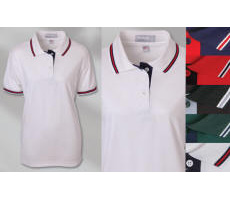 Ladies Napa Trim Pique Golf Shirt with Your Custom Embroidered Logo