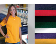 Ladies 100% Cotton Pique Knit Shirt with Your Custom Embroidered Logo