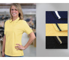 Women 100% Cotton Pique Knit Shirt with Your Custom Embroidered Logo