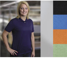 Ladies Polyester Pique Golf Shirt with Your Custom Embroidered Logo