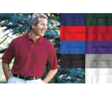 Pocket Cotton Polyester Blend Polo with Your Custom Embroidered Logo