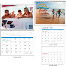 Spiral Appointment Wall 2016 Calendar 12 Different Full Color Logo Months