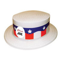 USA Made Political Ad Skimmer Hat with Your Custom Screened Logo