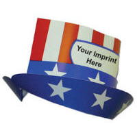 Budget Card Stock Political Ad Hat with Your Custom Screened Logo
