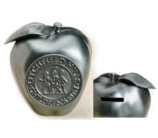 Stock Apple Medallion Coin Bank High Quality Detailed 3D Logo
