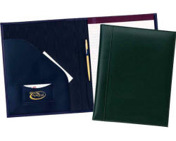 Classic Leather Portfolio Business Card Holder and Pen Loop