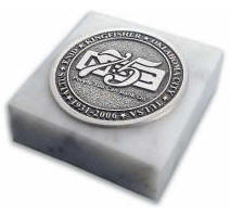 Medallion Marble Paperweight High Quality Detailed 3D Logo