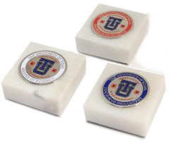 School Medallion Paperweight High Quality Detailed 3D Logo