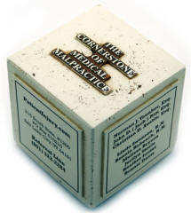 Stock Stone-Like Cube Paperweight Custom Molded Designs Available