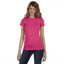 Women Fitted Long Length Tee with Your Custom Logo Imprint