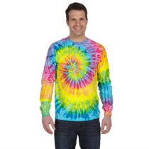 Unisex Tie-Dye Long Sleeve T-Shirt with Your Custom Logo Imprint