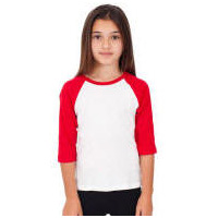 Youth Sports Baseball Raglan T-Shirt with Your Custom Logo Imprint