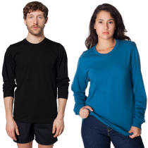 Unisex Organic T-Shirt Long Sleeve with Your Custom Logo Imprint