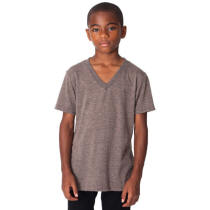 Youth Organic 100% Cotton V-Neck with Your Custom Logo Imprint