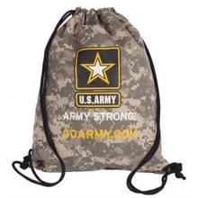 Camo Drawstring Backpack Multi-Color Personalized Logo