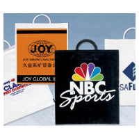 Plastic Event Bags Molded Handles Multi-Color Personalized Logo