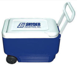 Igloo Wheeled 38 Quart Cooler Ice Chest Multi-Color Personalized Logo