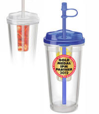 Acrylic Infuser Travel Straw Tumbler Multi-Color Personalized Logo
