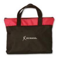 Poly-Canvas Zipper Top Tote Bag Multi-Color Personalized Logo