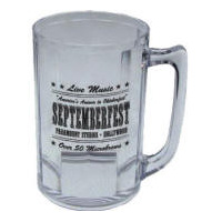 Classic Glass Beer Stein Multi-Color Personalized Logo