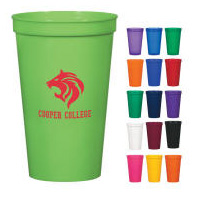 Tall Stadium Cup Tumbler Multi-Color Personalized Logo