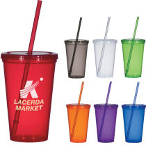 Classic Travel Straw Tumbler Multi-Color Personalized Logo