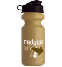 Recycled Plastic Sports Water Bottle Wide Mouth Flip-Top Lid