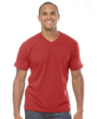 Organic 100% Cotton V-Neck with Your Custom Logo Imprint