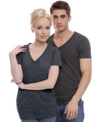 Unisex Tri-Blend V-Neck with Your Custom Logo Imprint