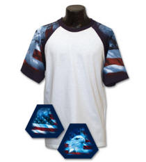 Patriotic Sleeve Jersey with Your Custom Logo Imprint