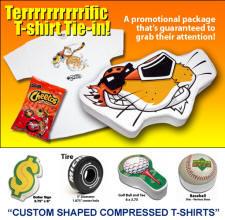 Custom Shape Compressed T-Shirt with Your Custom Logo Imprint