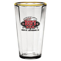 Fluted Glass Pint Tumbler Multi-Color Personalized Logo