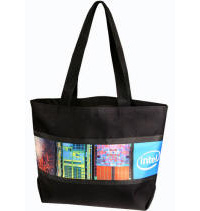 Large Poly-Canvas Event Tote Bag Multi-Color Personalized Logo